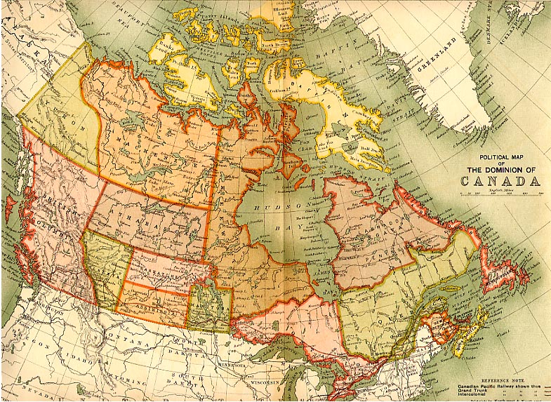 political map of quebec canada. Political map of Canada, 1898,