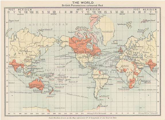 Map Of Uk 1900.Map Of The British Empire 1900