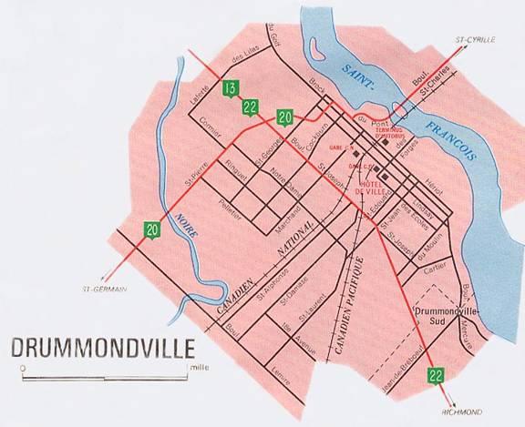 DrummondvilleMap